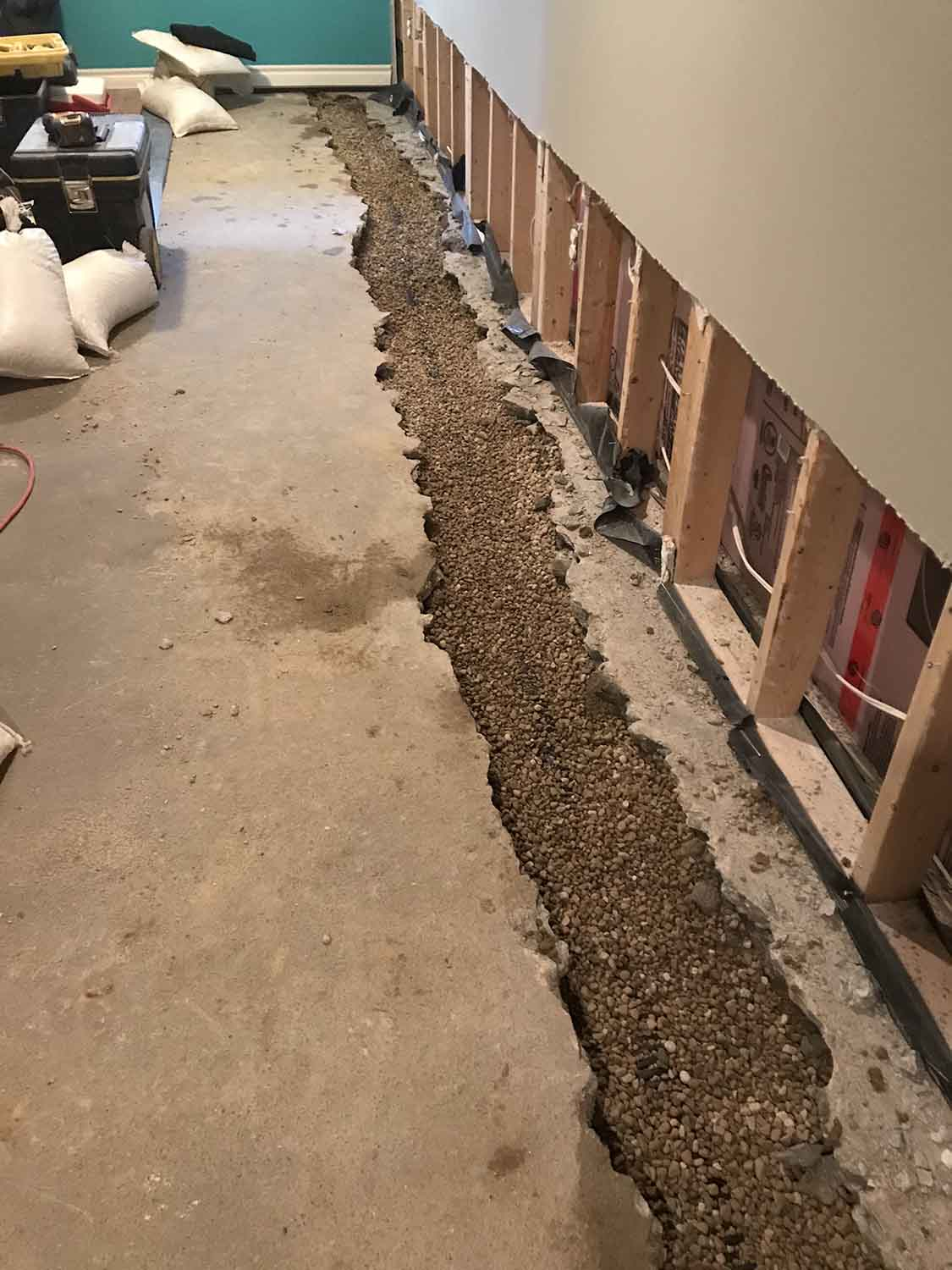 Basement Waterproofing exterior 2